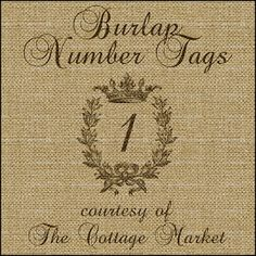 The Cottage Market: Free Printable Complete Alphabet and Number Burlap and Chalkboard Banner and Tag Set