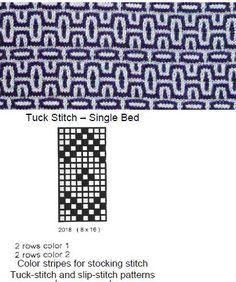 Tuck stitch in 2 colors