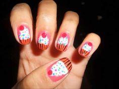 Cute Cupcake Nail Tutorial: How to Paint Cupcake Nail Designs