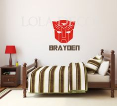TRANSFORMER decal - Boy bedroom - optimus prime - bumblebee - transformer movie