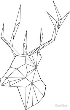 Geometric Deer by OneAlice Más