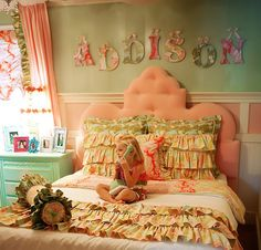 Addie Queen Tufted Velvet Headboard In Pink and Luxury Kid Furnishings Including Armoires in Childs Furniture : Childrens Beds at PoshTots Decor, Kids Room, Childrens Beds, Toddler Room, Kids Bedding, Girl Room, Rosenberry Rooms, Duvet Covers, Bedding Collections