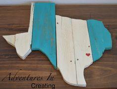 DIY Pallet Wood Texas Wall Art