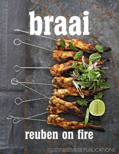 (The quintessential South African cooking style, Reuben takes you on a roadtrip through his past from hunting and cooking pigeons on the farms of Franschhoek as a kid, to his travels. In Braai, Reuben on Fire, he challenges you to … Continued Prawn Recipes, Seafood Recipes, South African Braai, Layout Design, Healthy Cooking, Food For Thought, Food Styling, Summer Recipes, Food Photography