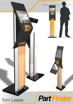 Evoke interactive Part finder kiosk by Tom Leese, via Behance Pos Design, Signage Design, Stand Design, Booth Design, Retail Design, Point Of Sale, Point Of Purchase, Retail Technology, Interactive Display
