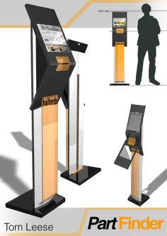 Evoke interactive Part finder kiosk by Tom Leese, via Behance