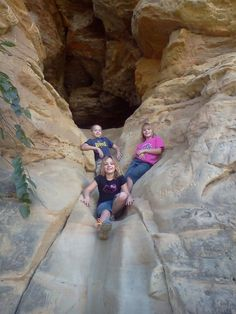 Caves to explore in KS 4.) Slide Cave (Buffalo Tracks Canyon Nature Trail -- Kanopolis State Park)