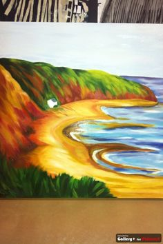 Oil painting of Thurstaston beach, Wirral, by Leanne Hughes
