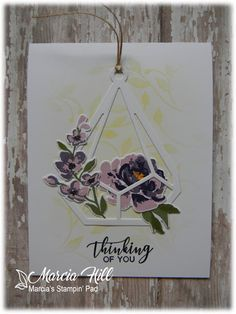 I recently spent an afternoon playing with one of my new stamp sets from The Greetery called Fleur Impressions and stampe. Best Friend Cards, Cards For Friends, Floral Flowers, Flower Bouquets, Some Cards, Penny Black, Flower Images, Hanging Baskets, Paper Cards