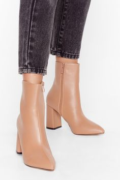Nothing says footwear fan like the perfect pair. Shop all womens boots & booties at Nasty Gal incl. Booties Outfit, Ankle Booties, Bootie Boots, Nude Boots, Leather Heeled Boots, Pointed Toe Heels, Mode Streetwear, Casual Shoes, Shoes