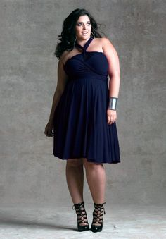 16eaf83c499 Plus Size Dress    Eternity Convertible Dress - Navy    Curvalicious Clothes   plussize