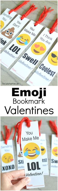 Make your sweetie LOL with these free printable Emoji Bookmark Valentine's Day Cards. Emoji Valentines are easy class valentines and gift in one.