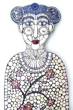 7 Oct — 2 Nov 2013 at The Scottish Gallery in Edinburgh, United Kingdom Mosaic Wall Art, Glass Wall Art, Stained Glass Art, Mosaic Glass, Mosaic Tiles, Mosaic Artwork, Mosaic Crafts, Mosaic Projects, Mosaic Diy
