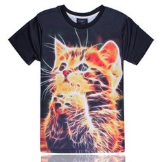 24f759f1b87 3D Praying Kitten T-shirt Funny Cat T Shirt