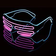 Men's Glasses Trustful Led Glasses Light Up Shades Flashing Rave Wedding Party Eyewear Luminous Glowing Night Shows Decors Activities Christmas Supply Evident Effect