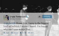 This gif kills me<Larry or elounor shipper, this is freaking sad, Larry shippers look what you did to our boys. >:( This is sad now the boys can't be friends<<< This makes me cry<<< see how false assumptions tear people apart Stop Lying, Larry Shippers, I Want To Cry, First Love, My Love, Louis Williams, I Love One Direction, 1d And 5sos, Real Friends