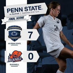 Penn State Women's Soccer Score Graphic 2014