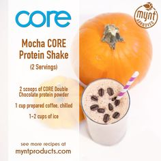 Coffee Mocha Protein Shake – Enhance your morning coffee with this healthy Coffee Mocha Protein Shake! Ingredients (2 servings): 2 scoops Double Chocolate CORE protein powder 1 cup prepared Coffee, chilled 1-2 cups Ice Directions: Add all ingredients to blender and blend for 60 seconds, or until smooth. Enjoy! http://amberageless.jeunesseglobal.com/