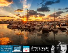 Budlo Night sunset, St Sampson's Harbour. #LoveGuernsey #MyHarbours  http://chrisgeorgephotography.dphoto.com/#/album/cbc2cr/photo/27590316  Picture Ref: 05_11_14 — at St Sampsons Marina.