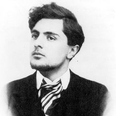 Amadeo Modigliani c. 1905. I love this portrait - especially the defiance of his upraised chin and his eyes averted from the camera.