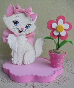Cat Crafts, Diy Arts And Crafts, Paper Crafts, Craft Activities For Kids, Crafts For Kids, Cat Ideas, Marie Cat, Gata Marie, Fiesta Decorations