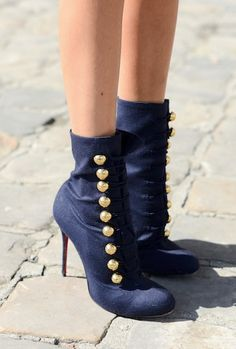 Louboutin military booties