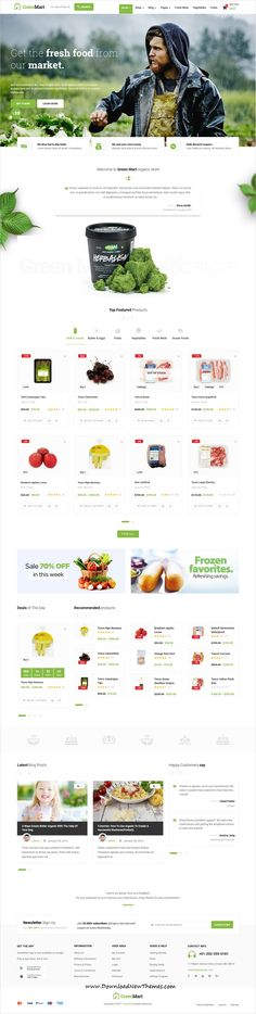 GreenMart is clean and modern design 8in1 reponsive #WooCommerce WordPress theme for #organic #food #store eCommerce #website to live preview & download click on image or Visit #free #wordpressthemes #April