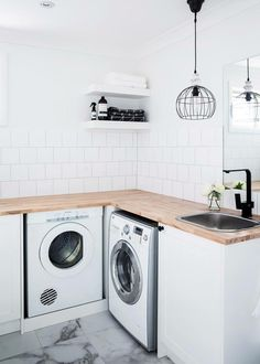 Trendy Home Inspiration White Laundry Rooms 59 Ideas White Laundry Rooms, Laundry Room Bathroom, White Rooms, Bath Room, Bathroom Green, Bathroom Modern, Bathroom Sink Design, New Bathroom Designs, Bathroom Sinks