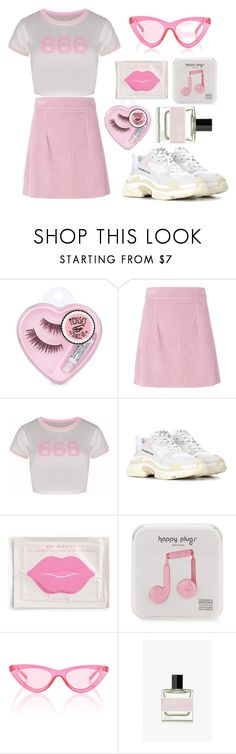 """""""pink floyd"""" by cool-ylichk ❤ liked on Polyvore featuring House of Holland, Balenciaga, J.Crew, Happy Plugs, Le Specs and Bon Parfumeur"""