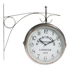 Stanley chrome wall clock