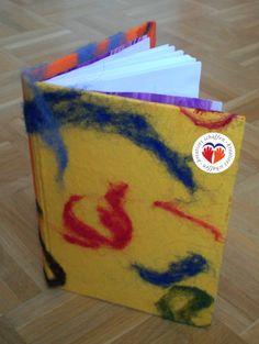 selbstgemachtes Buch mit Filzumschlag @kreativgraz