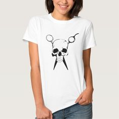 Hair Sylist Barber Skull and Shears T Shirt, Hoodie Sweatshirt