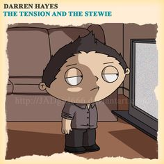 Darren Hayes the tension and the spark Family Guy Parodie