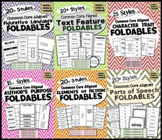 Foldables for ELA and Reading! Great for interactive notebooks and keeping your kids engaged. $