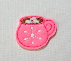 Hey, I found this really awesome Etsy listing at https://www.etsy.com/listing/245425805/embroidered-winter-cocoa-felt-applique