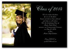 Senior Portrait Photo Graduation Invite