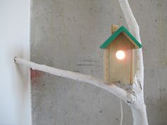 BIRD HOUSE LAMP by asiakomarova on Etsy, $40.00