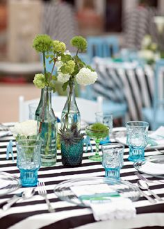 Love the colors and stripes!  Fun Cinco De Mayo inspiration from our Sombreros y Rancheros bridal shower.. Canvas & Canopy Events.