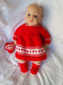 Linmary Knits: Baby Annabell Festive Dress