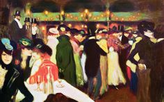 Midnight in Paris: Le Moulin de la Galette by Picasso (1900)