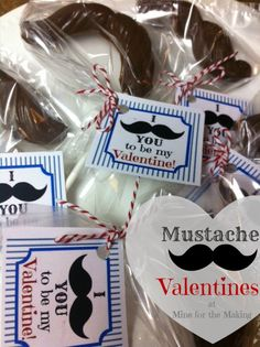 Mustache Valentines - I Mustache you to be my valentine!