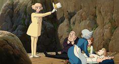 Studio Ghibli Art, Studio Ghibli Movies, Shiro, Personajes Studio Ghibli, Howl And Sophie, Howls Moving Castle, Hayao Miyazaki, Fantasy Illustration, Anime Sketch