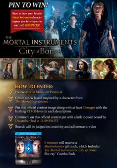 Show us how your favorite Mortal Instruments character inspires you for a chance to win one of 5 #TMIMovie gift packs!