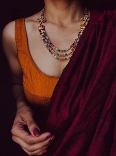 Made to Order – Tamara Trendy Sarees, Stylish Sarees, Simple Sarees, Saree Dress, Saree Blouse, Red Saree, Bollywood Saree, Saree Jewellery, Silver Jewellery