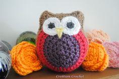 free owl stuffy cuddly crochet pattern
