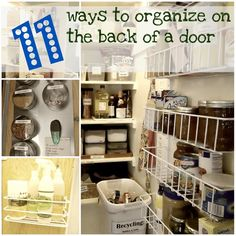 11 awesome and clever ways to organize the back of a door!   (HoH92)