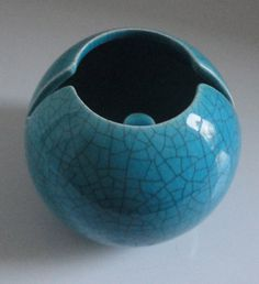Vohann Hoodwink Ceramic Turquoise Blue Crackle by Cosasraras, $14.00