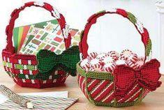Plastic canvas baskets - pg. 1