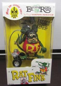 "Ed ""Big Daddy"" Roth RAT FINK Action Figure on Skateboard MIB NIB Very Limited"