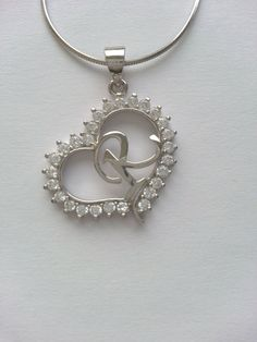 Heart Pendant Necklace with Initial Sterling by MerlinSilver